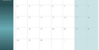 Calendario de Febrero de 2018