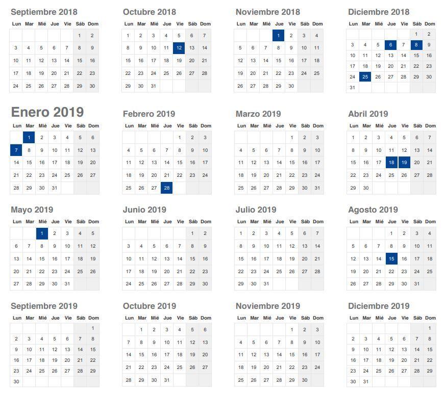 Calendario Laboral 2019 Andalucia.Calendario Laboral 2019 Andalucia